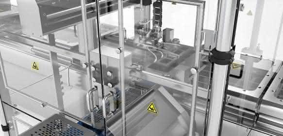 Bei der Gestaltung seiner Automatisierungskomponenten, etwa den Einhausungen für Greifersysteme, sorgt Multivac für eine leichte Zugänglichkeit, verwendet weitgehend glatte Oberflächen und reduziert abstehende Teile und versteckte Ecken. (Bilder: Multivac)
