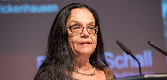 Motek-Messechefin Bettina Schall sprach zu den Gästen