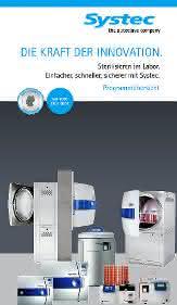 Autoklaven, Medienpräparatoren, Dispensier-/Dosiersystem: Neue Produktbroschüre