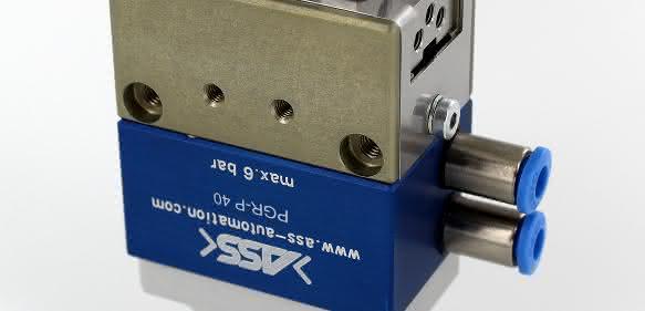 Eine der Neuheiten zur Fakuma ist der Parallelgreifer PGR-P 40 für das Innen- und Außengreifen mit Maximalkräften bis mehr als 15 Newton. (Bild: Ass)