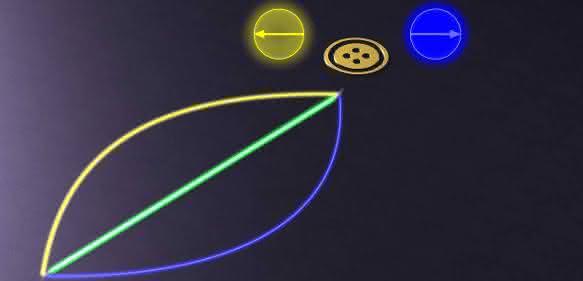 Schematische Darstellung von Quantenbits und ihren zwei Zuständen