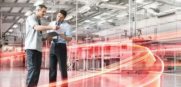 Eine Fabrik wird smart