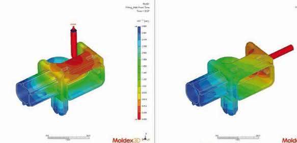 Simulationen des Spritzgießens und Pre-Post-Prozesse werden nun in einer Applikation visuell dargestellt. (Bilder: Simpatec)