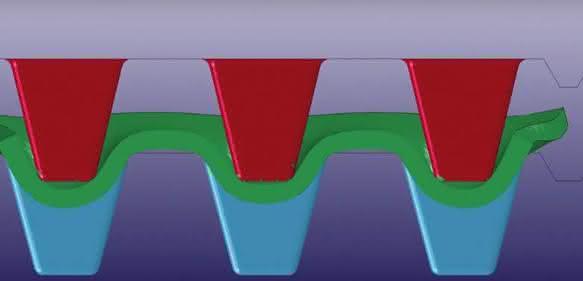 Fließpresssimulation für SMC mit LS-Dyna (Bild: Simpatec)