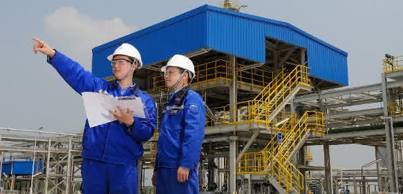 Produktionskomplex der BASF in Nanjing/China.