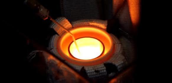 Erwärmung einer Titanlegierung