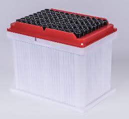 Pipettenspitzen im Kunststoffbehälter von Ritter Medical