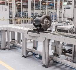 Motormontage in der Smart Factory