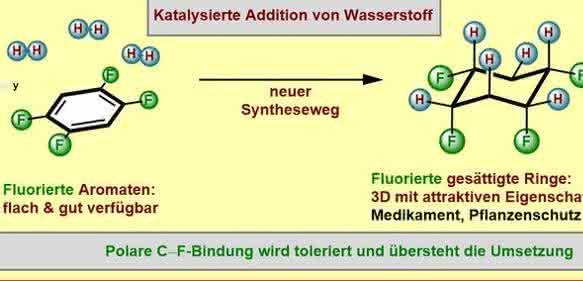 Fluorierte Molekülringe: Neues, einfacheres Syntheseverfahren entwickelt