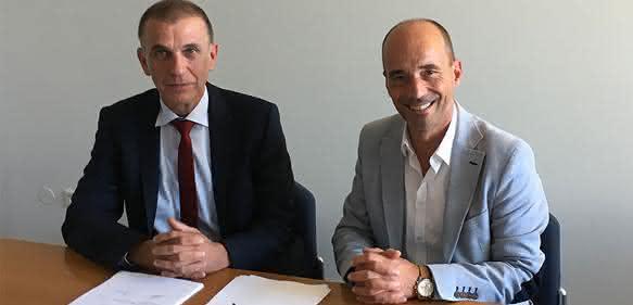 Rolf Sonderegger (r.) und Dr. Heinrich Offergeld