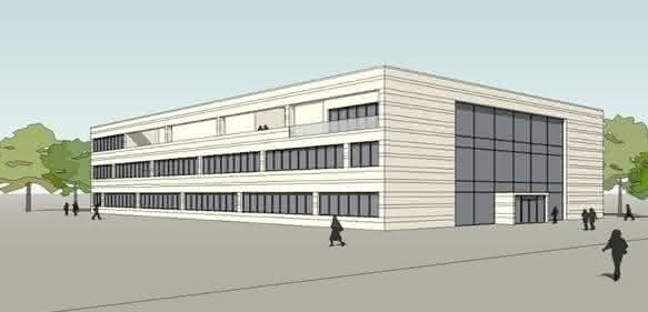 "Erst noch ein Entwurf: Das neue Forschungsgebäude ""Heart and Brain"" an der Universitätsmedizin Göttingen. (Visualisierung: pbr Planungsbüro Rohling AG)"