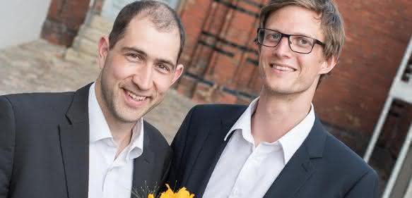 Dr. Ansgar Schmidt-Bleker (rechts), Dr. Jörn Winter (Links) vom Team Nebula Labs