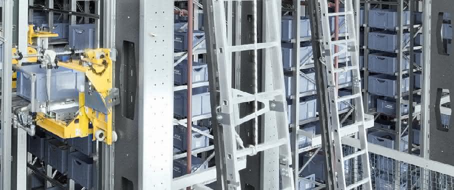 6-gassiges automatisches Kleinteilelager (AKL) SSI Schäfer