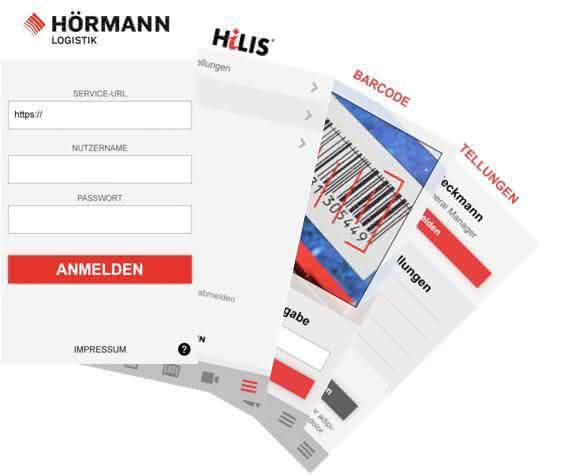 HiLIS Visu um eine App erweitert