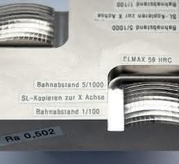 Werkstück der Testreihe aus dem Chrom-Molybdän-Vanadium-Stahl Elmax