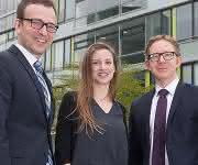 Leiter der FocusLabs: Dr. Holger Klose (links), Dr. Anita Loeschcke und Dr. Lars Regestein (Bild: Alexander Vogel/RWTH)