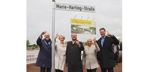 Harting-Straßenschild