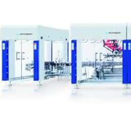 Die Anlage zum platzsparenden Verpacken von Portionspackungen besteht aus sieben Teilmaschinen.