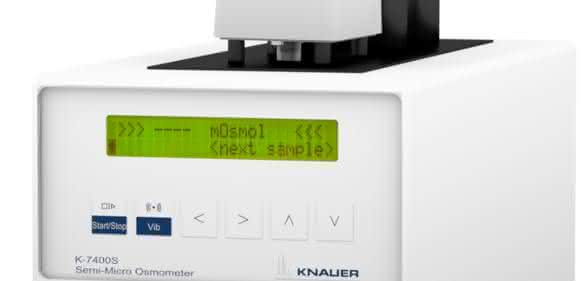 Das Semi-Micro-Osmometer K-7400S erfordert nur minimale Probenvolumina.