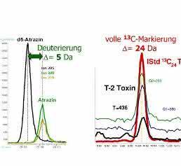Retentionszeit-Shift durch Isotopeneffekt bei der Deuterierung