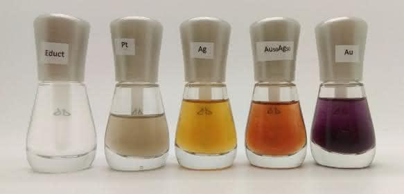 Nagellack mit Edelmetall-Nanopartikeln