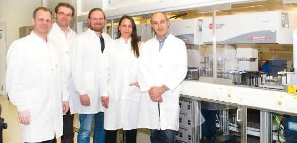 Robotikanlage zur vollautomatisierten Testung von Wirkstoffen
