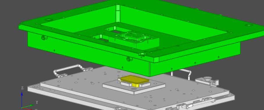 Die Software Proset 3D importiert Bauteile und Halterung direkt aus den CAD-Entwürfen. (Bild: LPKF)
