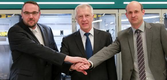 Rüdiger Timmermann, Karl-Heinz Lachmann und Jochen Seidler (v.l.)