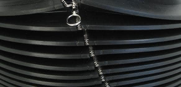 Mit Reißverschluss: Faltenbälge nachträglich montieren