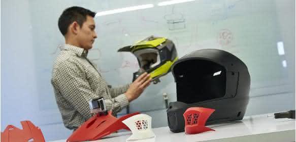 Motorradhelm-Prototypen