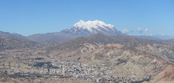 Nevado Illimani in Bolivien