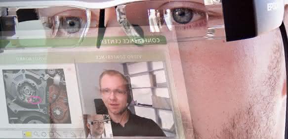 Datenbrille mit Conference Center von Symmedia