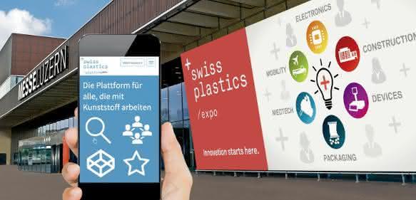 Parallel zur Swiss Plastics wurde die Online-Plattform vorgestellt. (Bild: Messe Luzern)