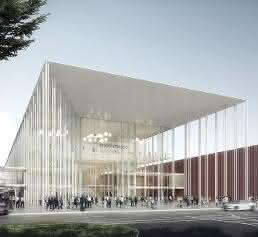 Gewinnerentwurf Architektenwettbewerb Koelnmesse 3.0