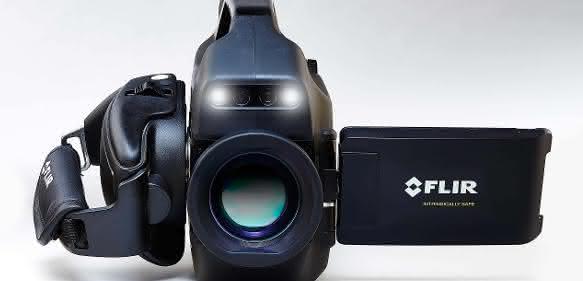 Optische Gasdetektionskamera Flir GFx320 für die Öl- und Gasindustrie.