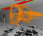 Automobil-Fertigungsstraße 3D-Punktwolke