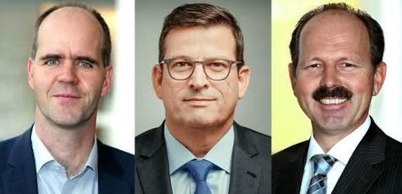 (v.l.) Mit Michael Heckmeier, Friedhelm Felten und Joachim Christ vollzieht Merck eine bereichsübergreifende Führungsrochade. (Bild: Merck)