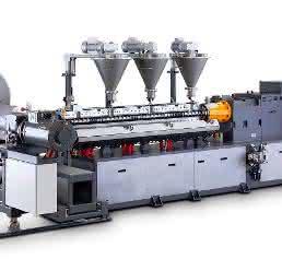 Compoundierlinie für die Aufbereitung halogenfrei flammgeschützter (HFFR) Kabelcompounds. (Bild: Buss)