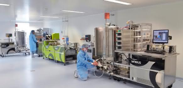 Mobius® 2000-Liter-Einwegbioreaktoren