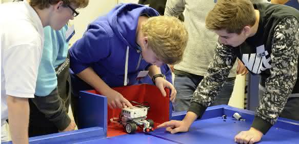 Schunk Robot Competition Testfahrt
