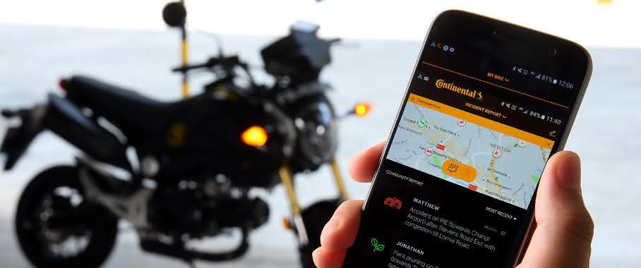 Schwarmintelligenz für Motorräder: Continental öffnet den eHorizon für Biker
