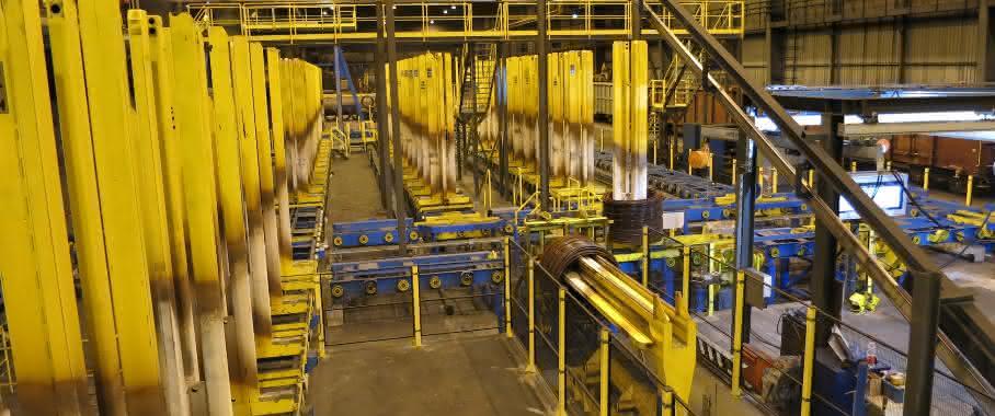 neues Ringhandlingsystem im Walzwerk von Swiss Steel
