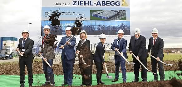 Spatenstich für die neue Fabrik von Ziehl-Abegg im Gewerbepark Hohenlohe