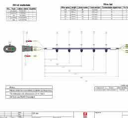 Eplan Harness proD 2D-Kabelzeichnung