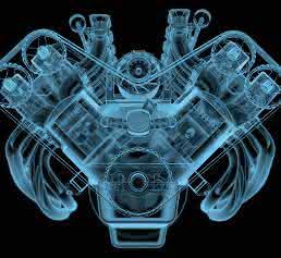 Röntgenbild eines Motors