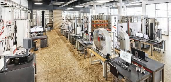 Prüflabor für Werkstoff- und Bauteilprüfung Zwick