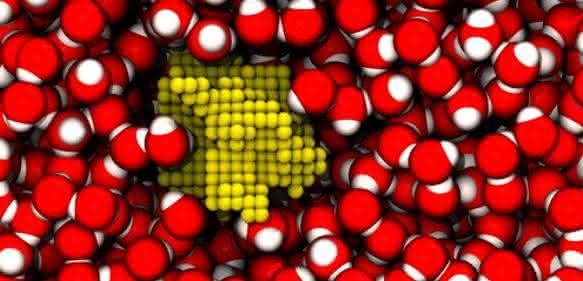Simulation von Blasenbildung in Wasser