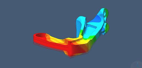 Simulation einer Halterung nach der additiven Fertigung