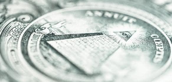 Wachsames Auge auf dem Dollarschein