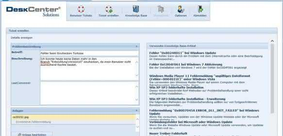 Zentraler User-Helpdesk mit Web-Client